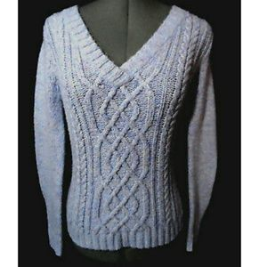 NEW YORK & CO. Wool blend Sweater XS Lavender Cabl